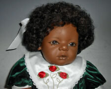 """Vintage Annette Himstadt 23"""" Black Baby Girl Doll """"Mo"""" with Box"""