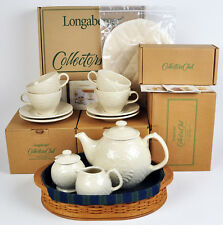 New Retired Longaberger 2004 Collectors Club Tea Tray Basket Set