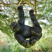 Climbing Gorilla Tree Hanging Garden Tree Ornament Statue Sculpture Decoration