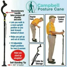 Campbell Posture Cane - Walking Cane with Adjustable Heights, As Seen on TV