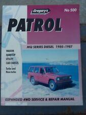 NISSAN PATROL MQ SERIES DIESEL 1986 TO 1988 WORKSHOP MANUAL INC. TURBOCHARGED
