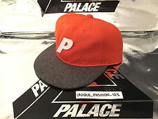 PALACE SKATEBOARDS WOOL STADIUM CAP P HAT 6 PANEL AW15 ORANGE GREY BLACK