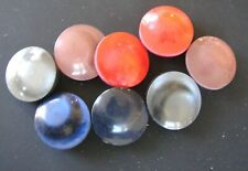 """Vintage Buttons - 8 Round Shimmery 7/8"""" Shank Buttons - 4 Colors - France"""
