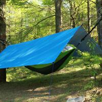 Hammock Rain Fly Tent Tarp, Portable Lightweight Waterproof Camping Shelter Suns