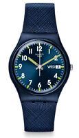 Swatch Sir Blue Uhr GN718 Analog  Silikon Dunkelblau