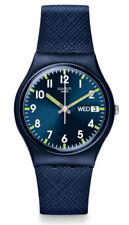 Swatch Sir Blue Watch GN718 Analogue Silicone Dark Blue