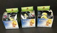 """Lot of 3 Disney Tinkerbell Duck Brand Duct Tape 1.88"""" x 5 yd ~New/Old stock~NWT"""