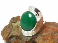 MALACHITE   Sterling  Silver  925  Gemstone  RING   -  Size : P - Gift Boxed!