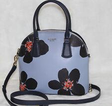 NWT Kate Spade Large Dome Satchel Bag Sylvia Grand Flora Blue Handbag Purse $328