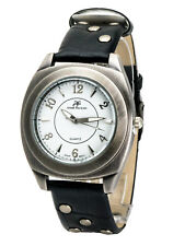 ANDRE FRANCOIS:ANTIQUE STYLE WESTERN STUDS LEATHER BAND ANALOG QUARTZ WATCH