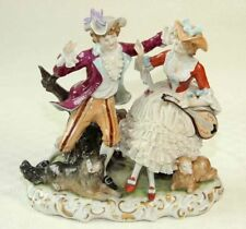 traumhafte Figurengruppe - UNTERWEISSBACH 1882 - 25 cm 2,1 Kg  Rokoko Paar Musik