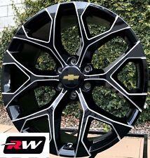 "24"" Chevy Silverado OE Factory Replica Snowflake CK156 Wheels Black Milled Rims"