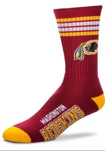 Washington Redskins Football Maroon 4 Stripe Deuce Crew Socks