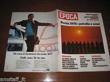 RIVISTA EPOCA 1975 N1266=GIULIO ANDREOTTI=ELEONORA GIORGI=ZOO-SAFARI FASANO=