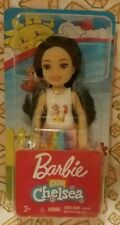 Mattel Barbie Club Chelsea Doll Black Hair White Tank with Kitten Rainbow Skirt