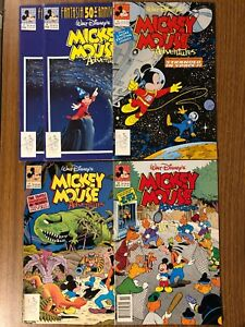 Walt Disney Mickey Mouse Adventures Lot, No. 9, 16, 17, 18. NM