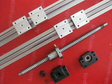 16mm CNC ballscrew RM1605-1400mm+BKBF12 end bearing+1 set SBR20 slide rail
