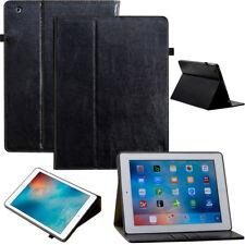 Luxury Leder Schutzhülle für Apple iPad 2/3/4 Tablet Tasche Cover Case schwarz