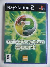 COMPLET jeu COLLECTION QUIZZ SPORT sur playstation 2 PS2 en francais juego gioco