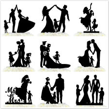 Custom Family Wedding Cake Topper Bride And Groom With Children Funny Decoration
