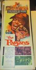 THE PAGANS! '53 ORIGINAL RARE ADVENTURE  CLASSIC INSERT FILM POSTER!