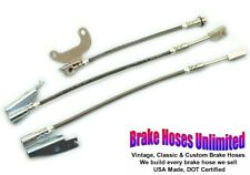 STAINLESS BRAKE HOSE SET Lincoln Continental Town Car 1971 1972