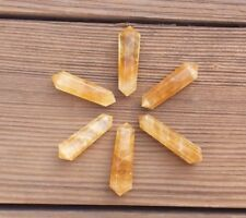NATURAL CITRINE DOUBLE TERMINATED GEMSTONE CRYSTAL PENCIL POINT (ONE)