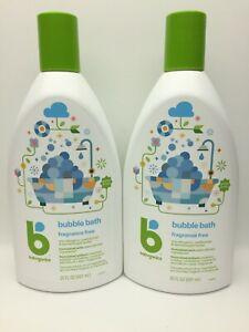 Babyganics 2-pk Bubble Bath 20oz Ea. Fragrance-Free Non-Allergenic, New C31 AA