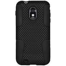 Mesh Soft Hard Hybrid Silicone Cover Case Skin For Samsung Galaxy S2 4G D710 S 2