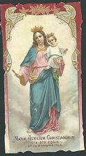 Estampa antigua Virgen Maria Auxiliadora andachtsbild santino holy card santini