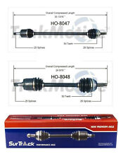For Honda Civic del Sol FWD 1992-2000 Pair of Front CV Axle Shafts SurTrack Set