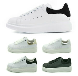 New Womens Chunky Rubber Sole Platform Trainers Ladies Low Top Sneakers Shoes