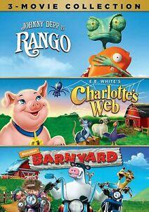 Rango / Charlotte's Web / Barnyard (DVD 3-Disc Set) NEW Sealed, Free Shipping