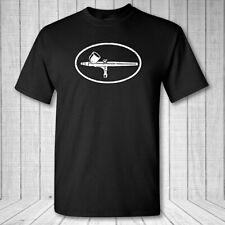 Airbrushing Artist Oval T-shirt - Airbrush body art canvas painting emblem shirt