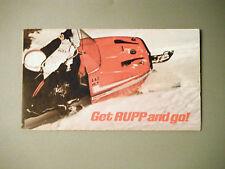 New listing 1971 Vintage Rupp Snowmobile Foldout Pocket Brochure