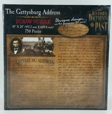 """New Abraham Lincoln The Gettysburg Address - 18"""" x 24"""" 750 Pieces Jigsaw Puzzle"""