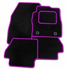Seat Leon Mk2 2005-2009 TAILORED CAR FLOOR MATS BLACK WITH PINK TRIM