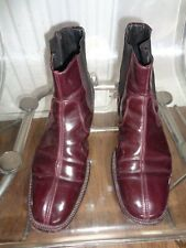 Burgundy/Wine vintage Chelsea Boots by Shelly's Size 9 (Eur 43)