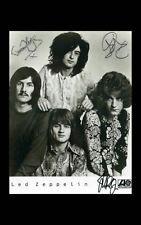 Enmarcado impresión-Led Zeppelin con autógrafo (réplica Foto música rock inglés)