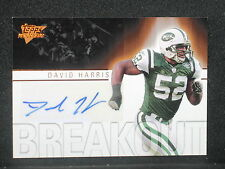 David Harris 2007 Topps Performance Autograph Rookie (28/50) New York Jets #BADH
