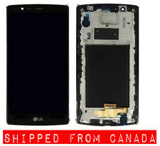 BLACK LG G4 FRONT GLASS LCD ASSEMBLY WITH FRAME SCREEN REPAIR REPLACEMENT