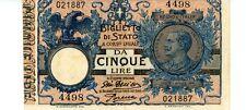 Italy ... P-23e ... 5 Lire ... 1904 ... *XF+*