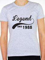 LEGEND SINCE 1988 - Birth Year /Birthday Gift / Novelty Themed Women's T-Shirt