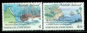 NORFOLK ISLAND 508-09 SG516-17 MNH 1991 History 3rd Series set of 2 Cat$9