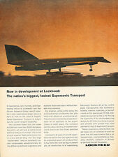 1964 Lockheed Supersonic Airplane Aircraft Original Advertisement Print Ad J132