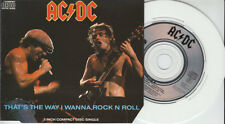 "AC/DC rare 4 track 3"" CDSINGLE that's the way i je veux chevaucher ta Rock N Roll + Shoot to Thrill"