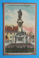 Polen AK Warschau Warszawa 1915 Pomnik Adama Mickiewicza Denkmal Häuser Polska