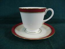 Royal Worcester Howard Ruby Pattern Cup and Saucer Set