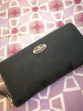Authentic used Coach Long Wallet Black