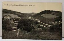 Glen Rock Pa ~ View South From Heyward Hayward Heights ~ 1917 Photo Postcard D16